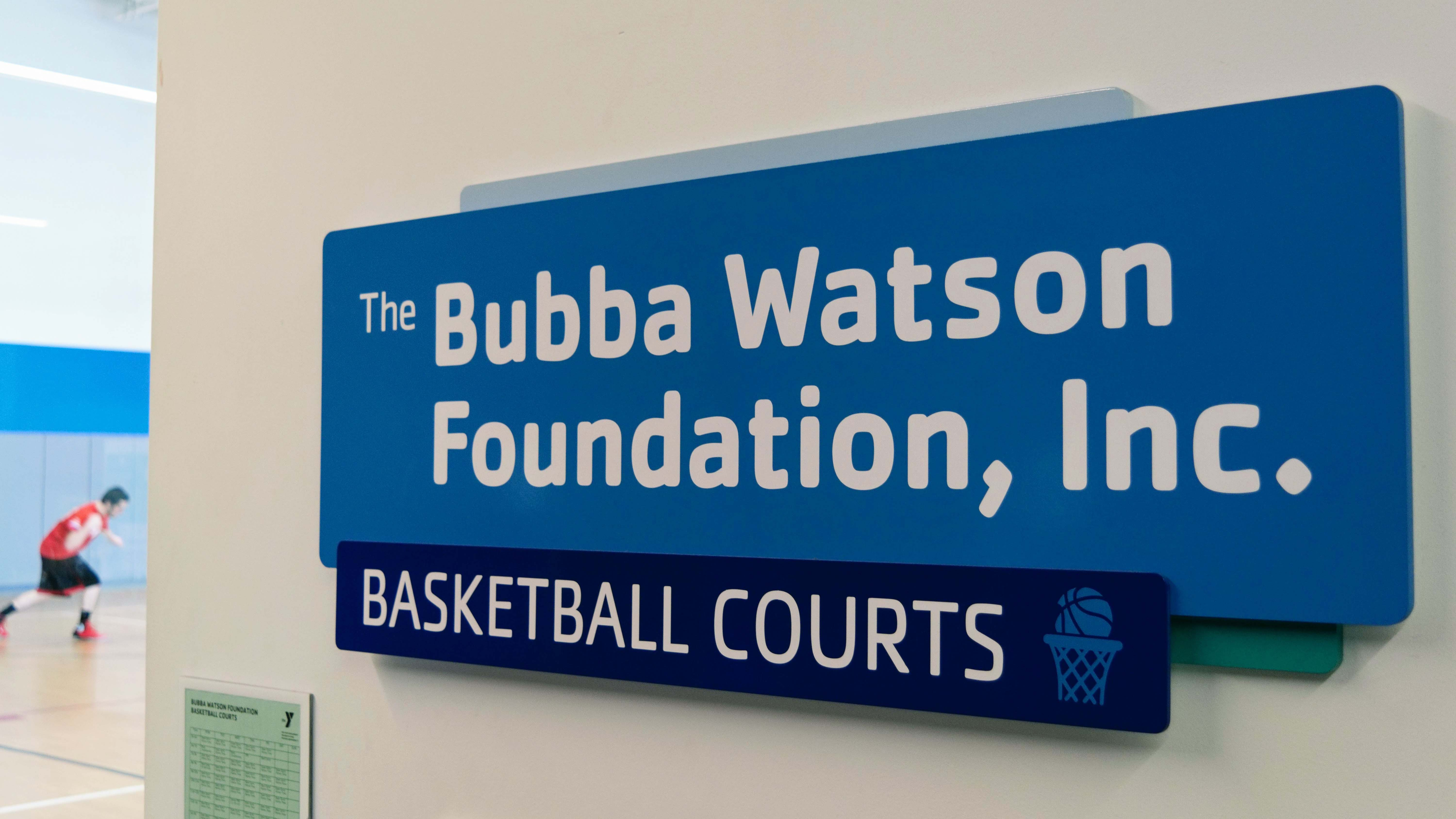 YMCA donor wayfinding signage - signgeek Donor Recognition