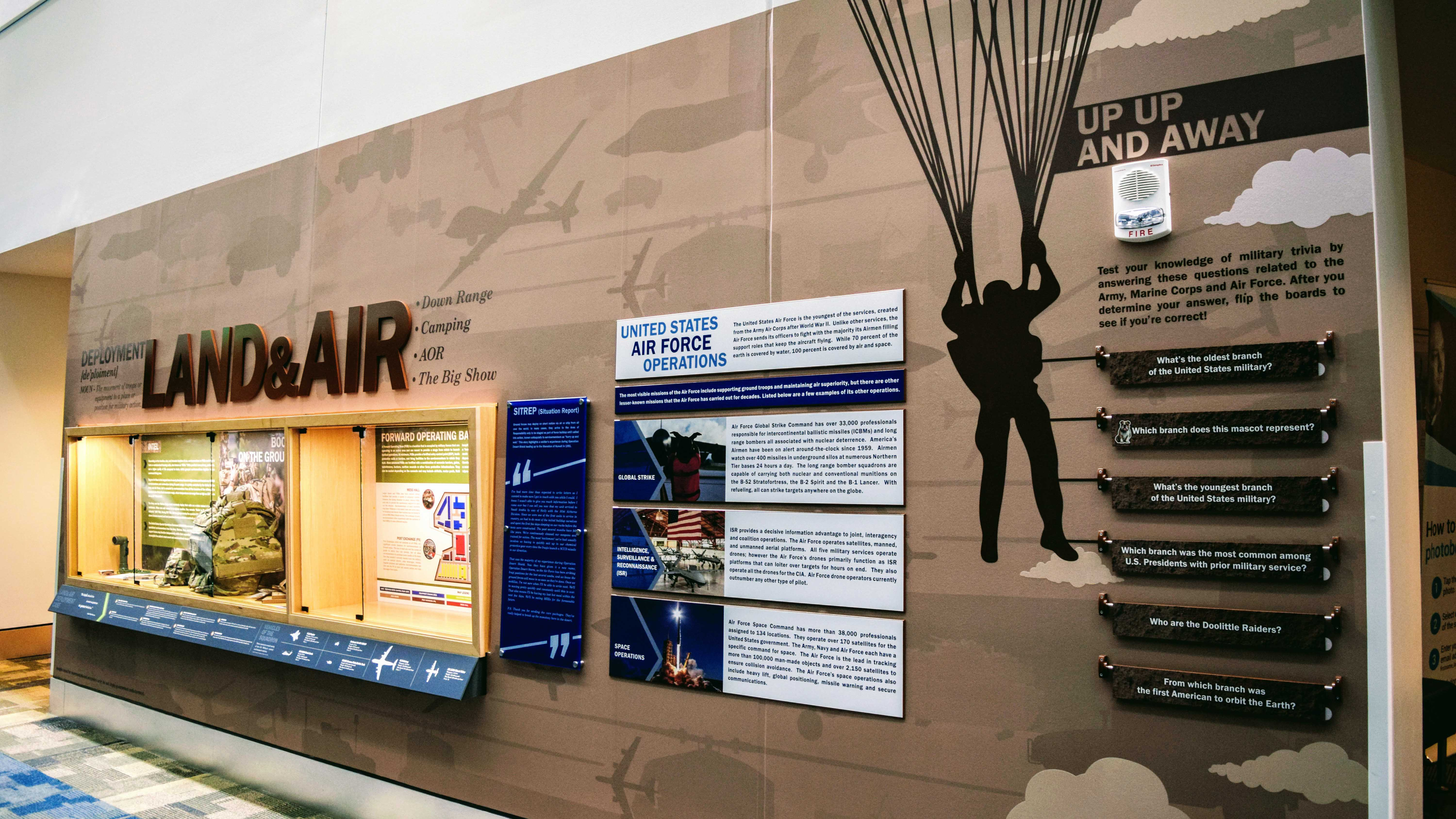 Museum and exhibition graphics for Navy Federal Military Experience Hall - signgeek Wall Wraps