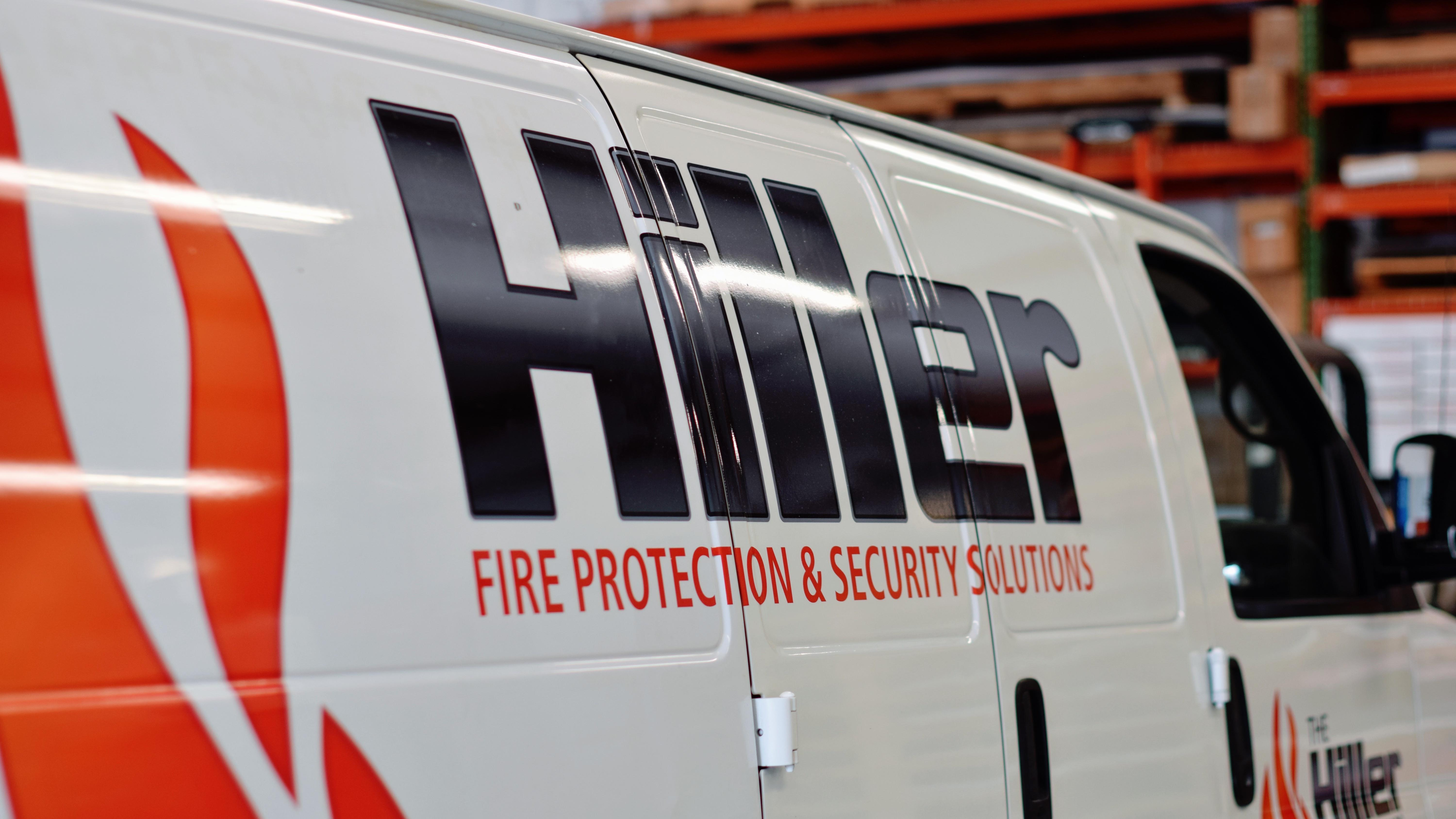 Fleet wraps on new Hiller vans - signgeek