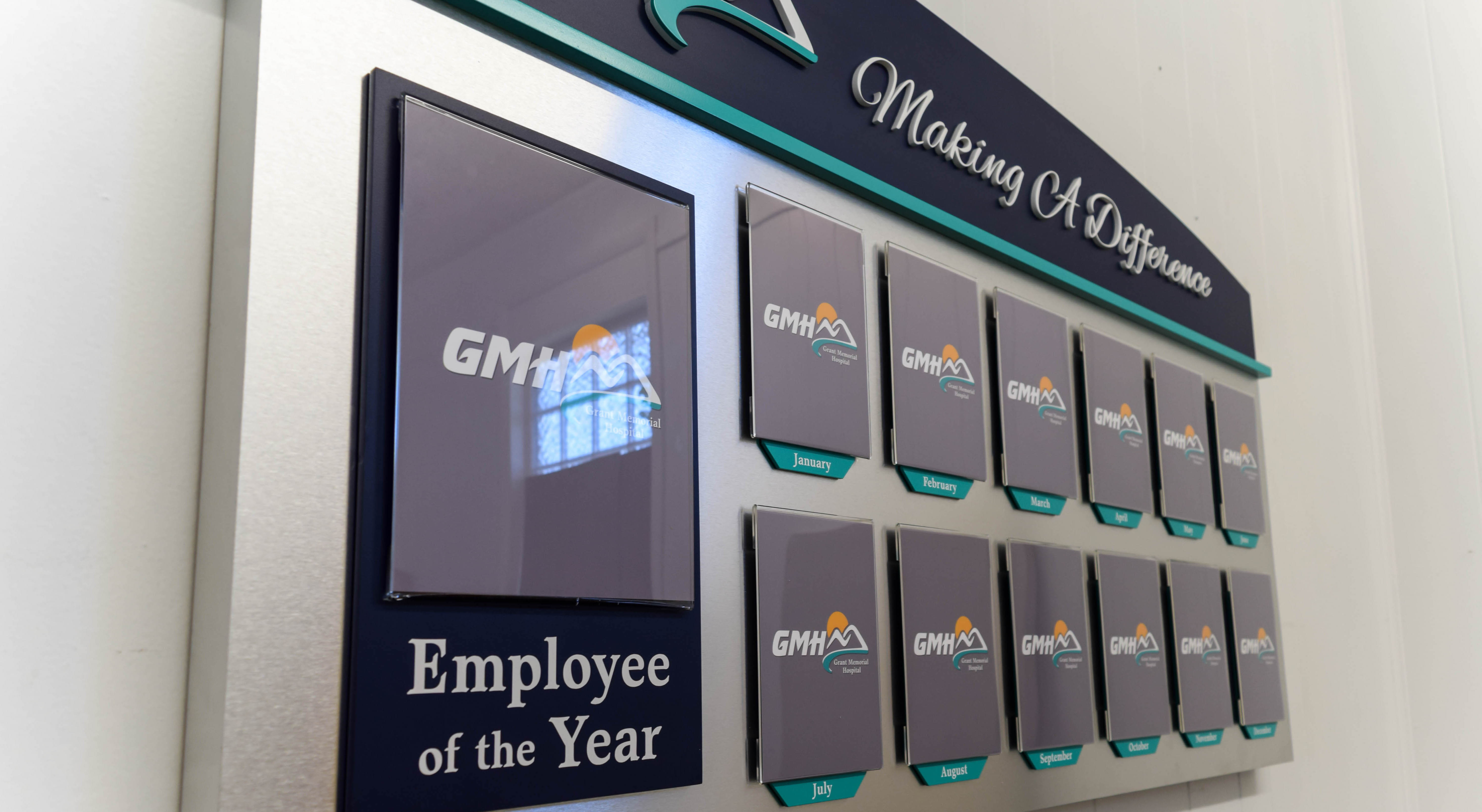Employee of the month wall display