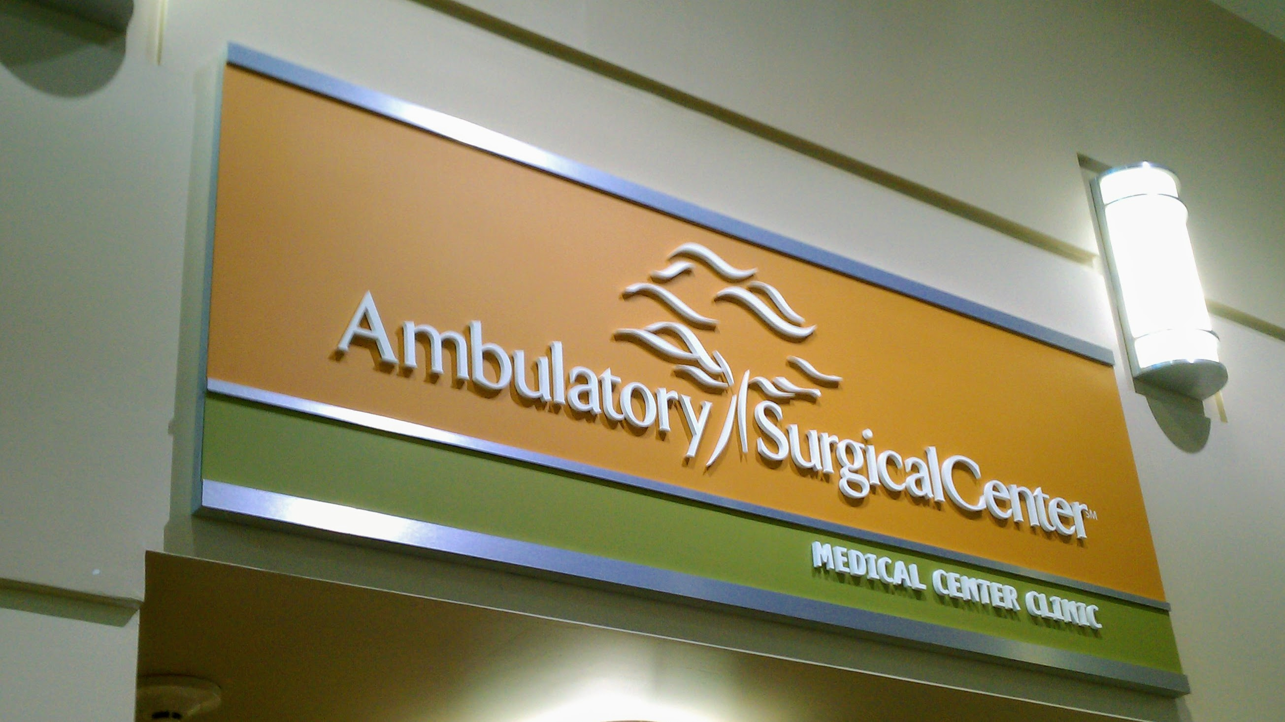 Interior Dimensional Medical Center Sign
