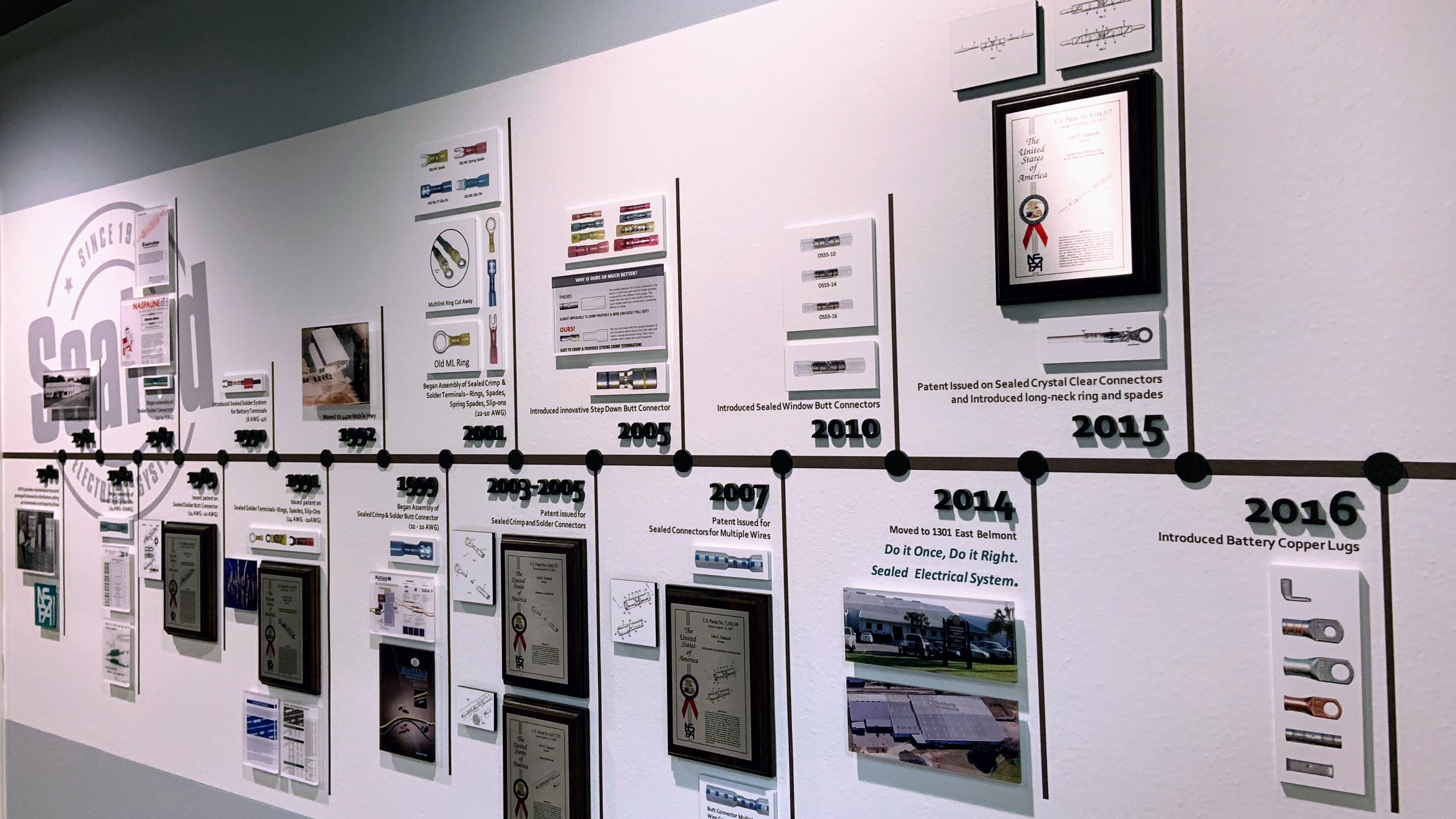 Timeline exhibition in NSPA showroom - by signgeek