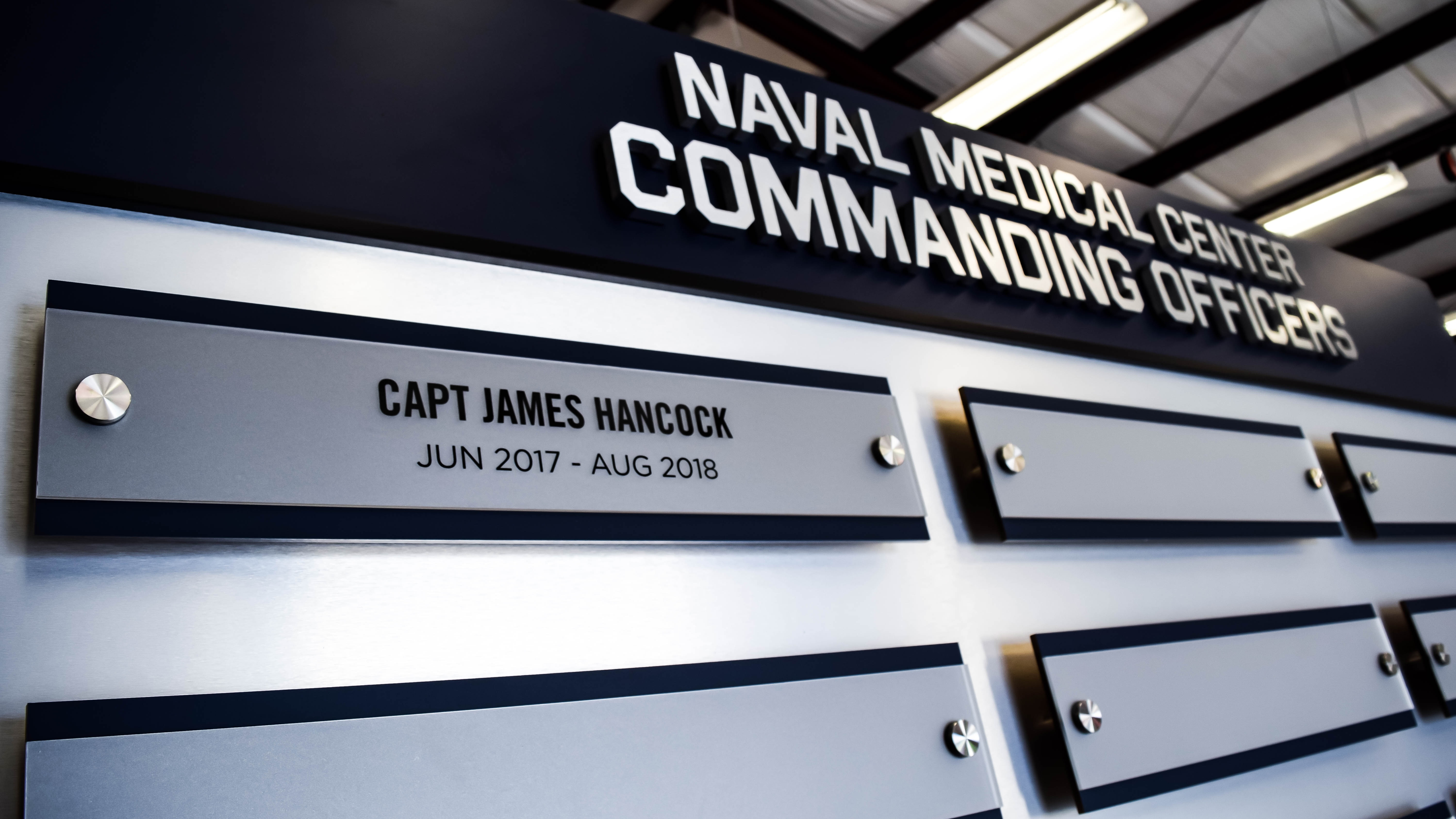 Custom recognition display for Navy Officers by signgeek.