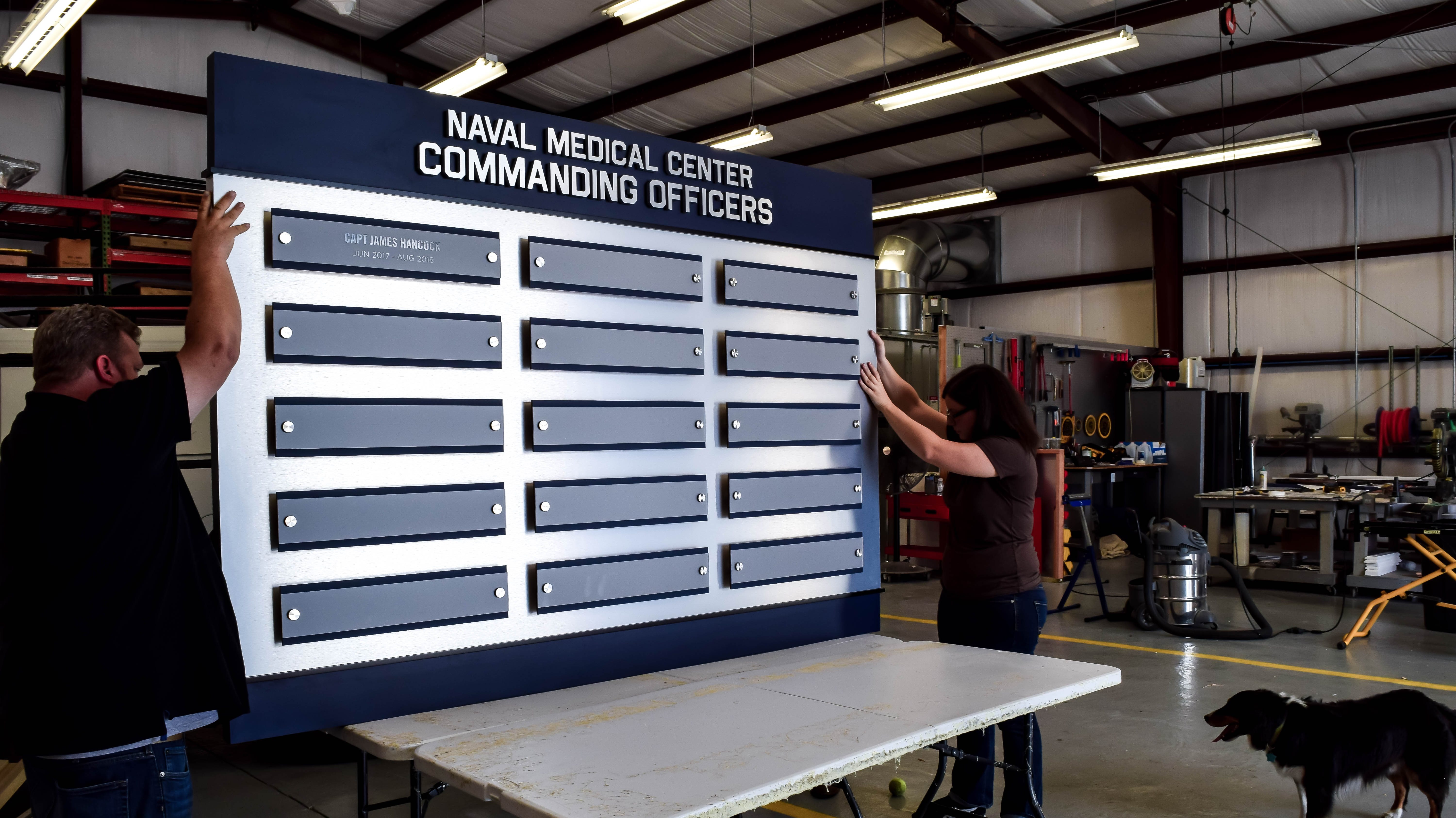 Custom recognition display for Navy Officers by signgeek