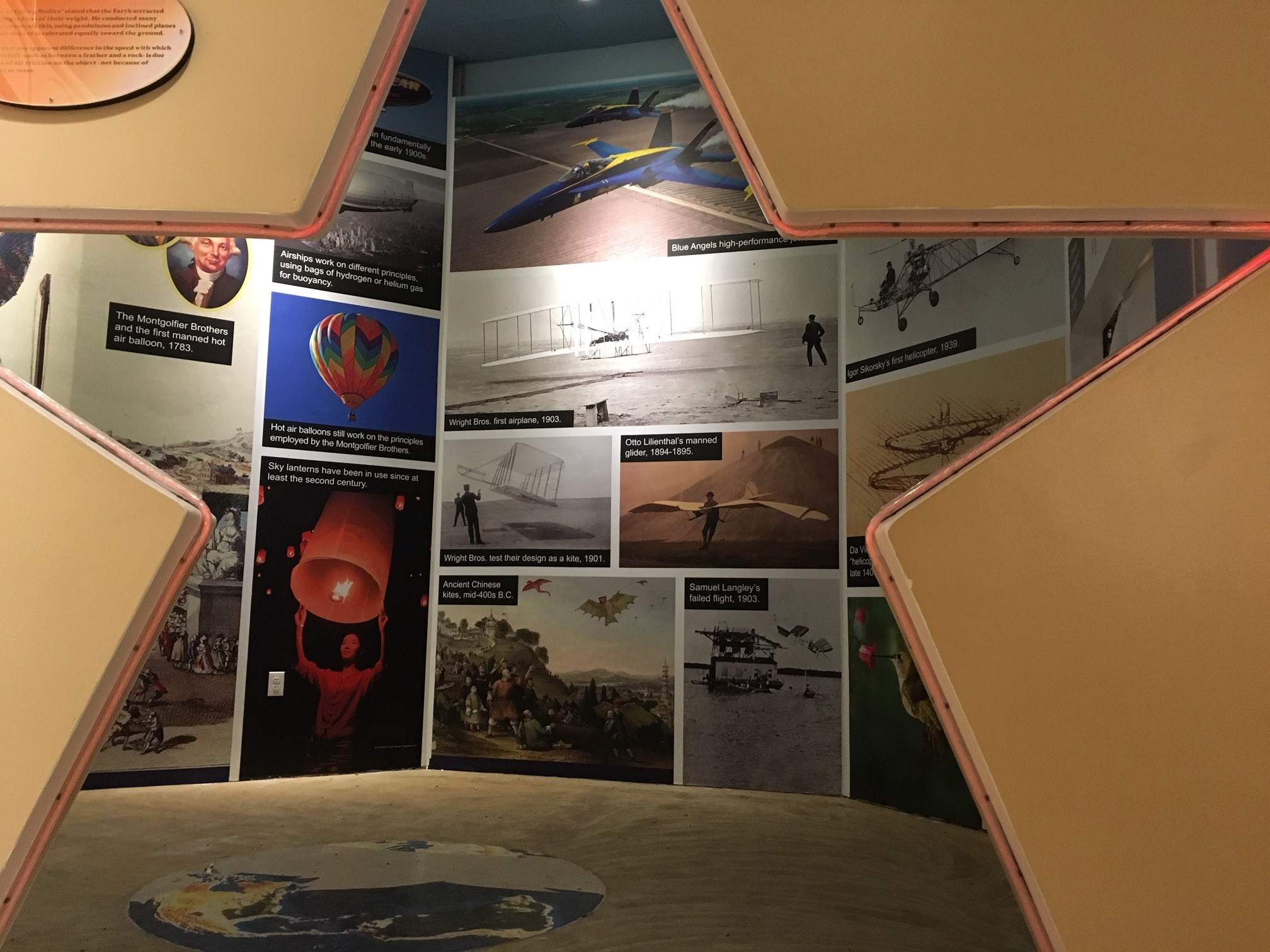 Museum and exhibition wall graphics at Naval Aviation Museum - Signgeek Environmental Graphics