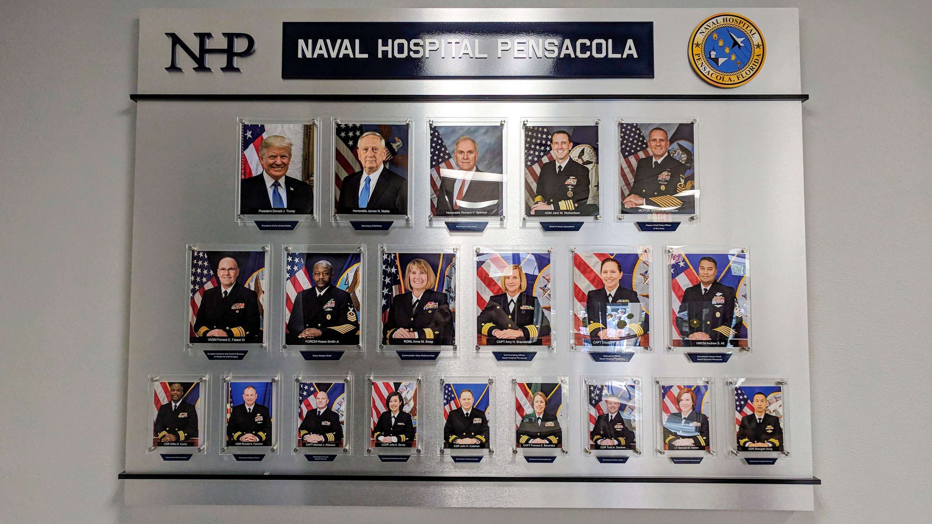 Recognition Display for Naval Hospital Pensacola