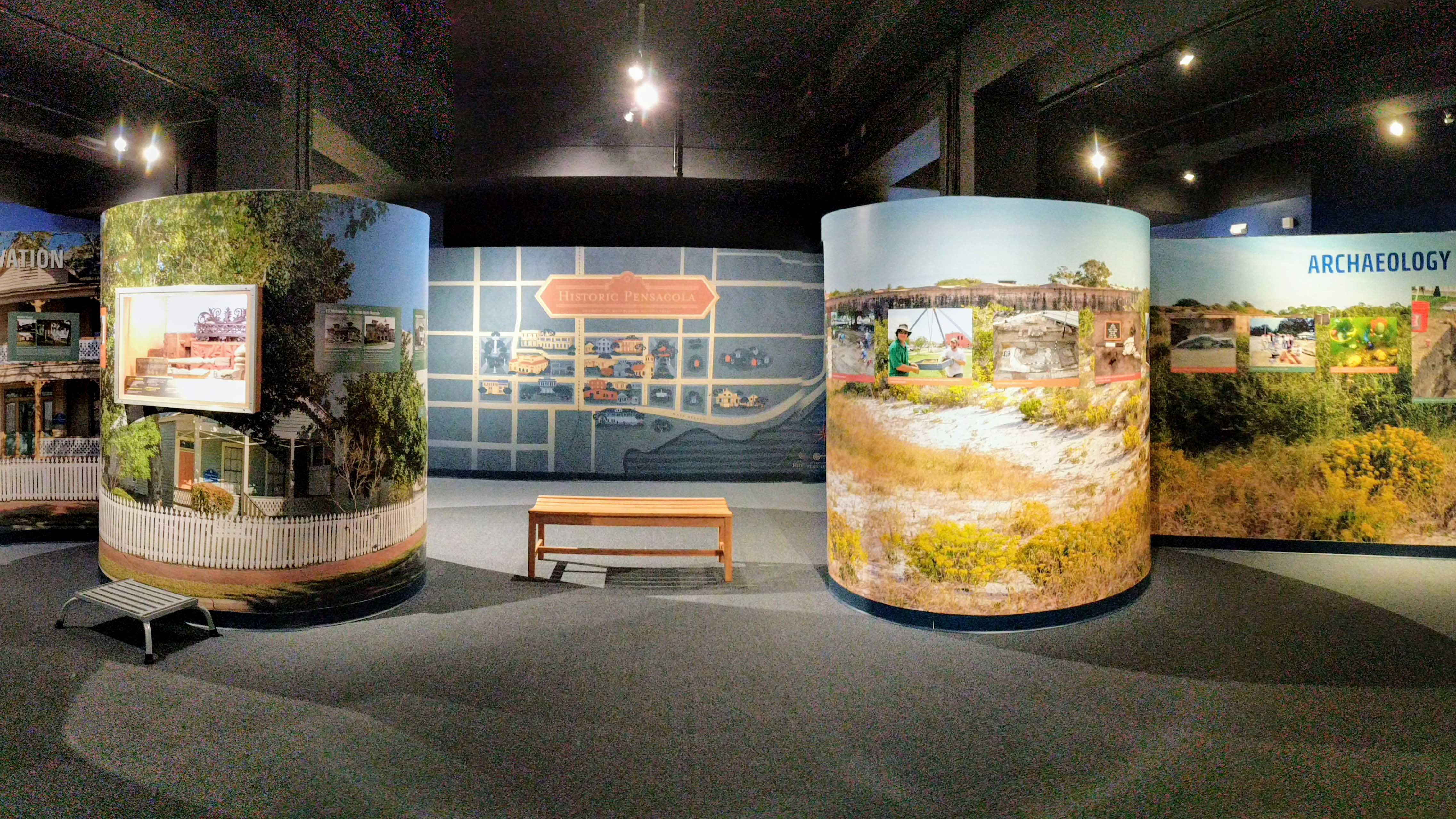 Museum and exhibition graphics for UWF Historic Trust Fund - signgeek Wall Wraps