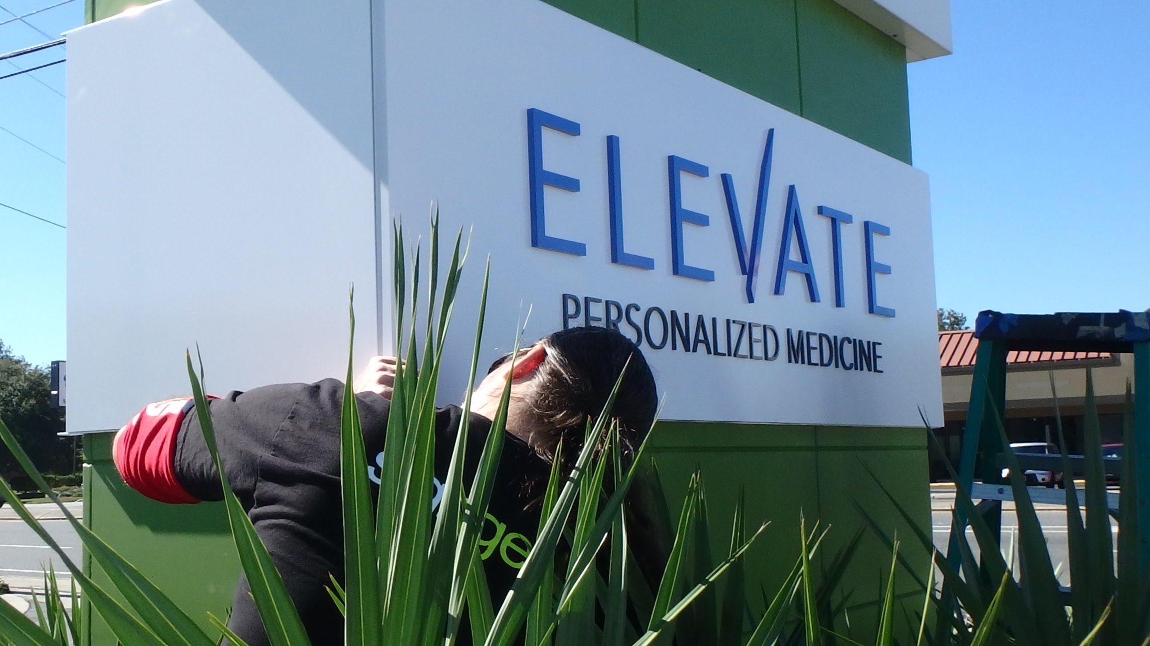 Exterior Dimensional Sign Letter Installation