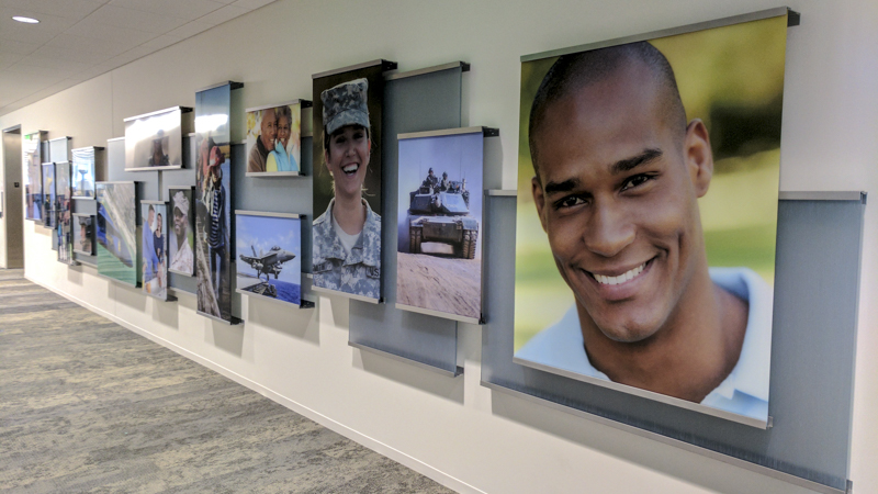 Signgeek Acrylic Posters - Photo panels inside Navy Federal Credit Union