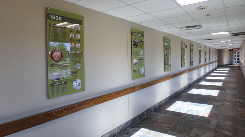 Signgeek Acrylic Posters - Infographic panels at Medical Center Clinic
