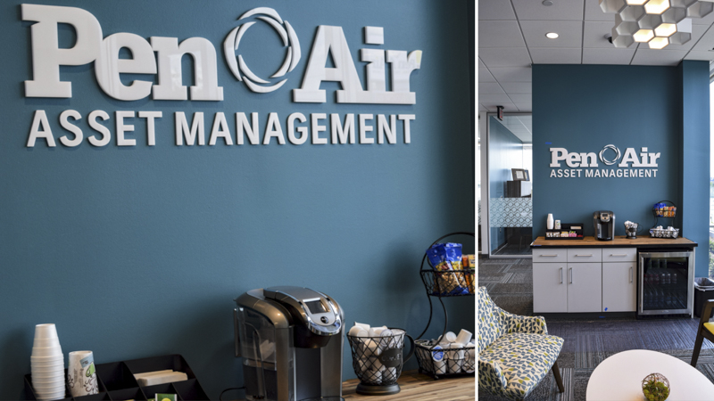 Branded interior letter signage for Pen Air FCU - Signgeek Environmental Branding