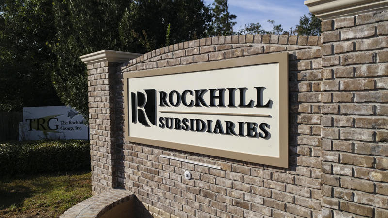 Dimensional Letter Monument Signage for Rockhill Subsidiaries