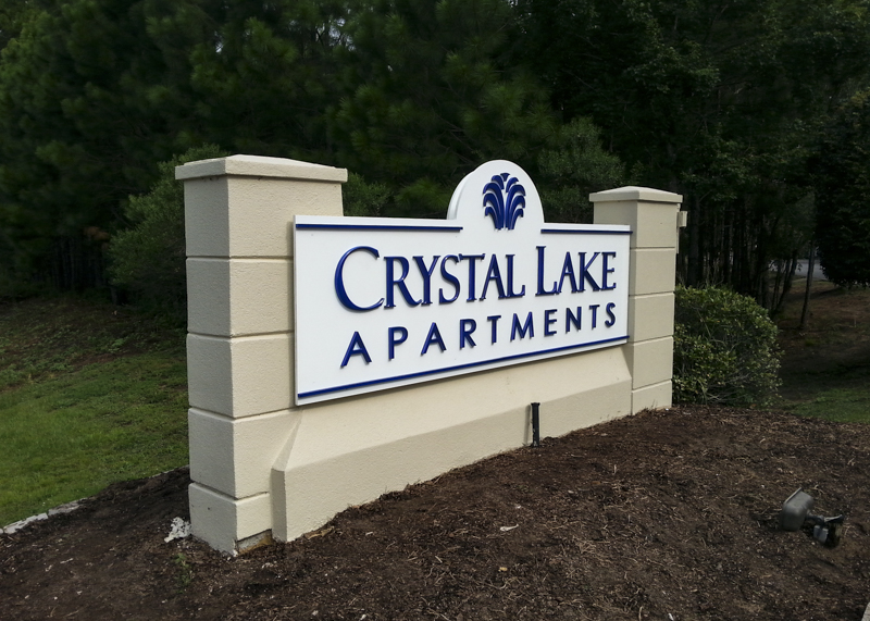 Dimensional Letter Entryway Signage for Crystal Lake Apartments