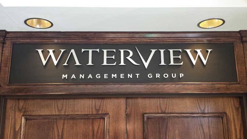 Interior Dimensional Letters for Waterview Management Group Offices