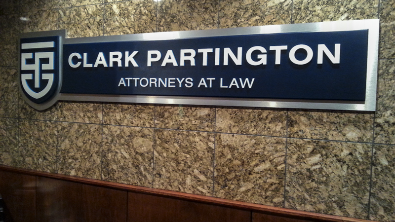 Dimensional Letter Entrance Signage for Clark Partington
