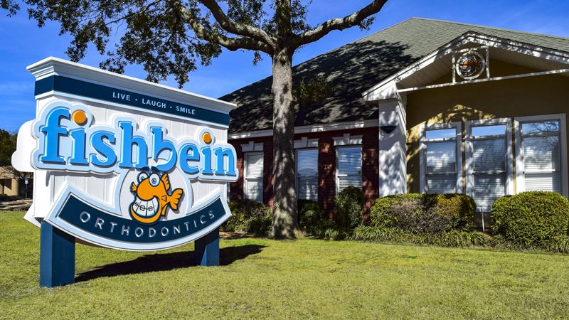Exterior Dimensional Identity Sign Letters and Logo for Fishbein