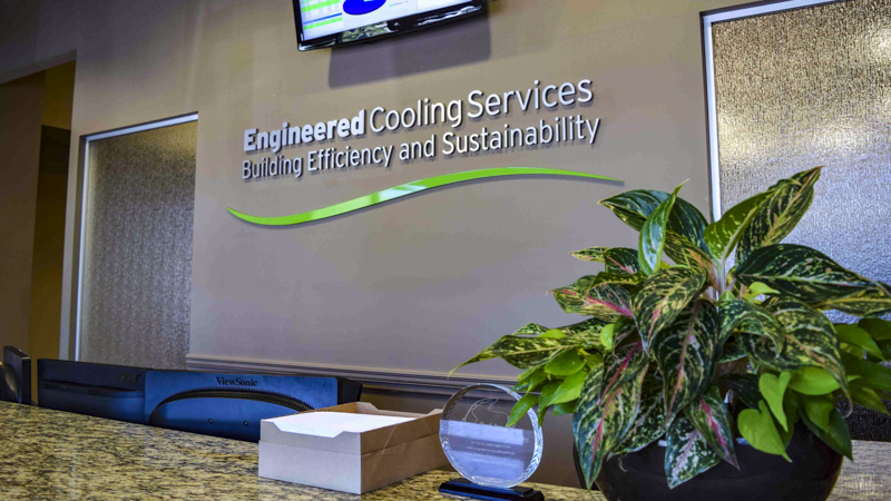 Interior Dimensional Letters for Engineered Cooling Services Lobby
