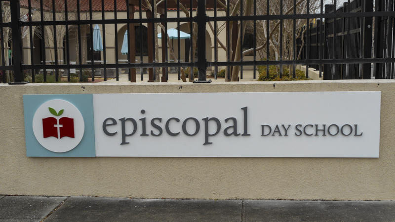 Exterior Dimensional Sign Letters for Episcopal Day School