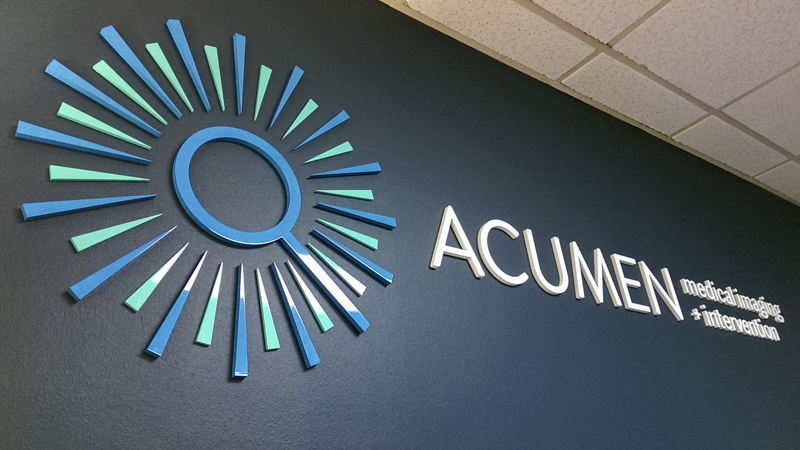 SignGeek Corporate Identity Signage - Dimensional waiting room signage for Acumen