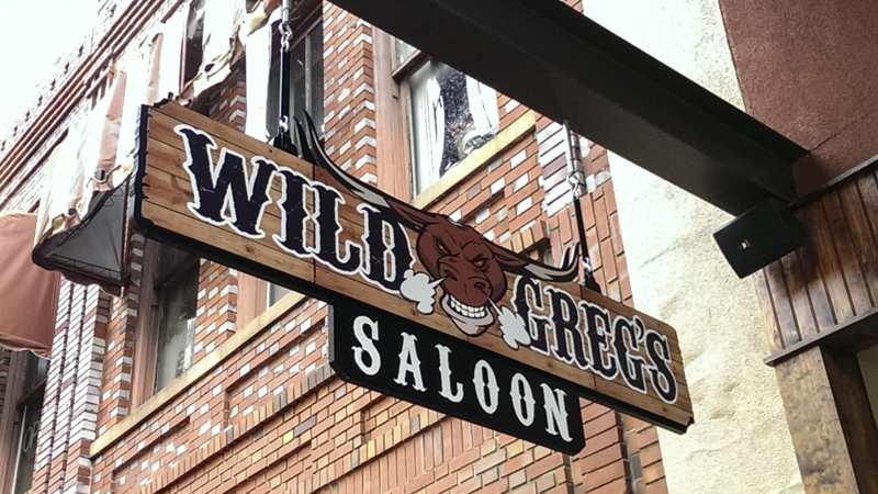 SignGeek Corporate Identity Signage - Identity signage for Wild Greg's Saloon