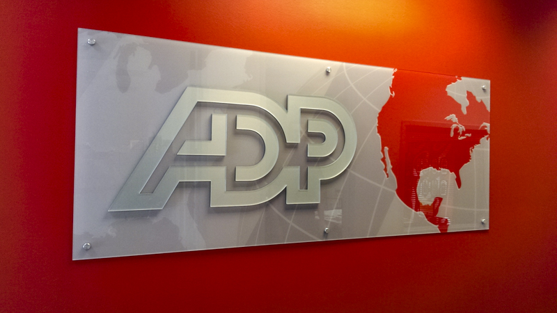 Acrylic Standoff Lobby Sign for ADP