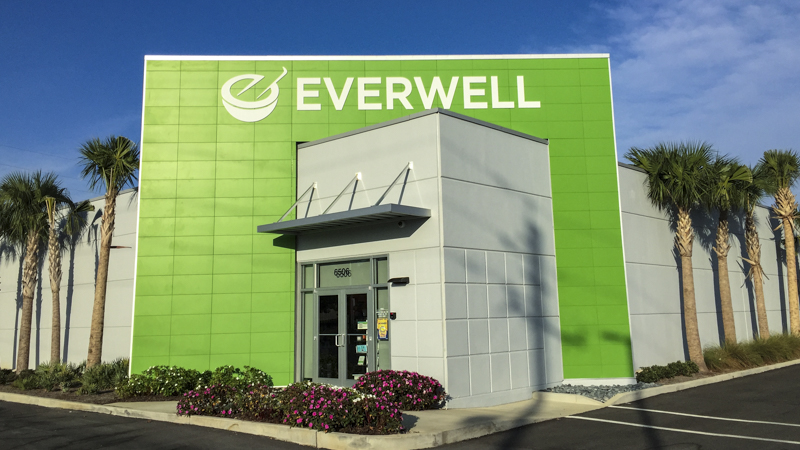 Exterior Dimensional Sign Lettering for Everwell Phramacy