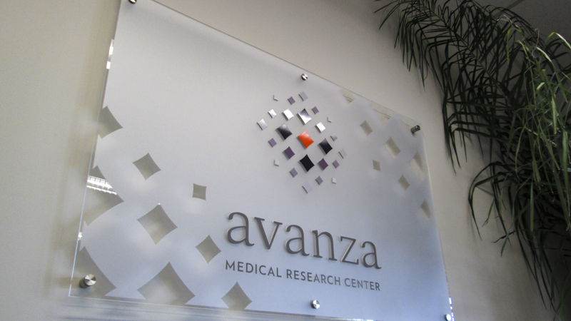 Acrylic Standoff Sign for Avanza Medical Research Center