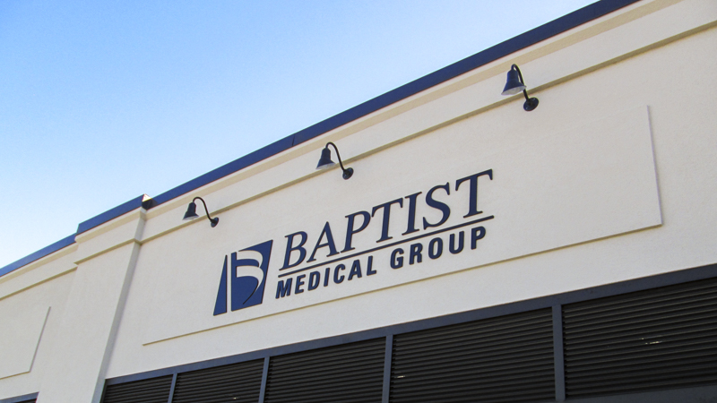 Dimensional Exterior Letters for Baptist Medical Group