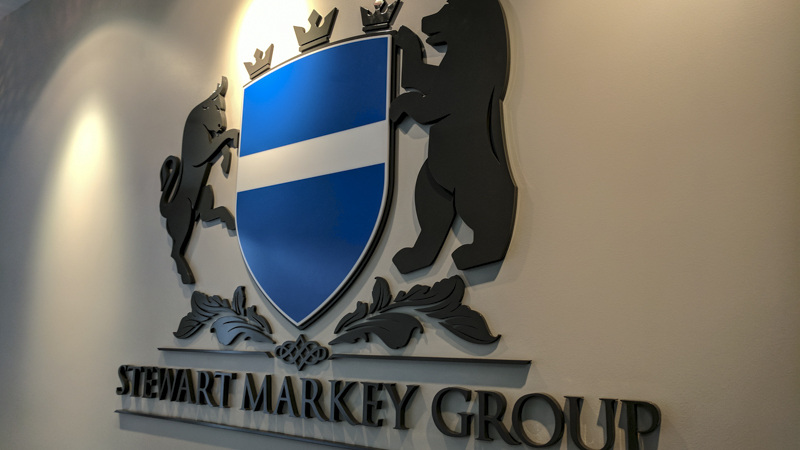 Interior Dimensional Sign Letters and Logo at Stewart Markey Group