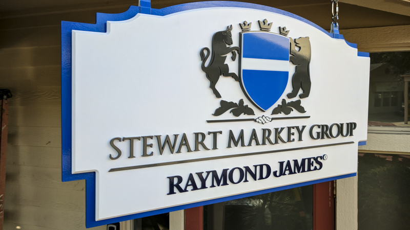 Exterior Dimensional Identity Signage for Stewart Markey Group