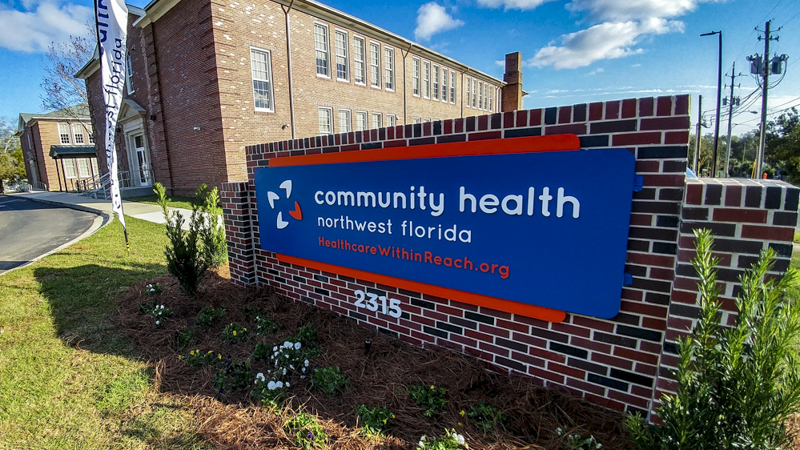 Exterior Dimensional Letter Signage for Community Health