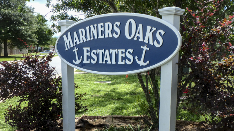SignGeek Corporate Identity Signage - Community signage for Mariner Oaks Estates
