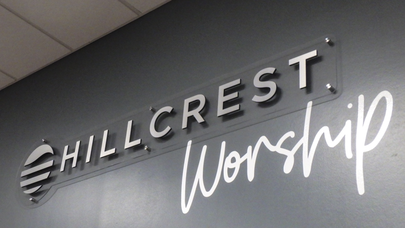Brushed Dimensional Letter Signage for Hillcrest Church