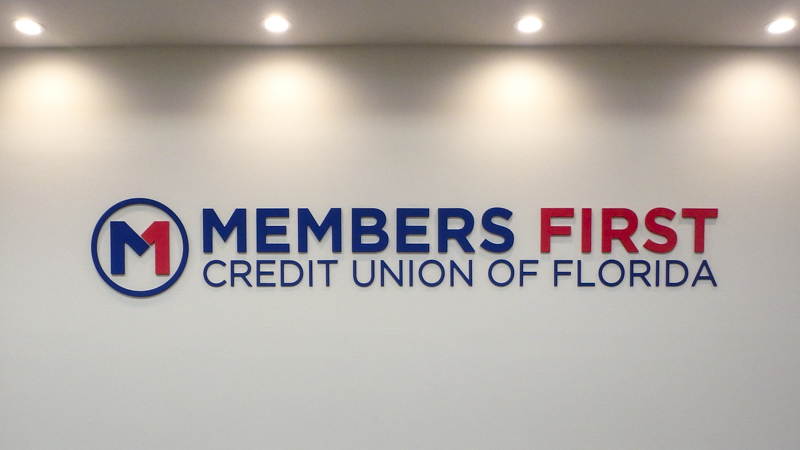 Interior Wall Letters for Members First Credit Union