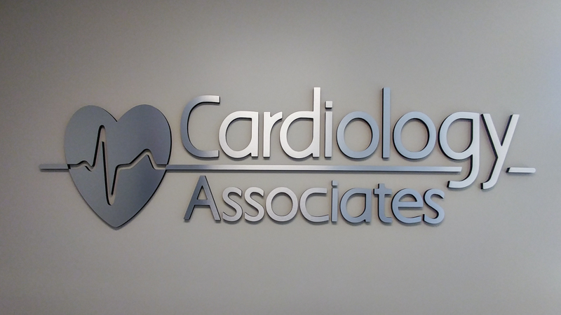 SignGeek Dimensional Letters and Logos - Cardiology Associates dimensional wall lettering