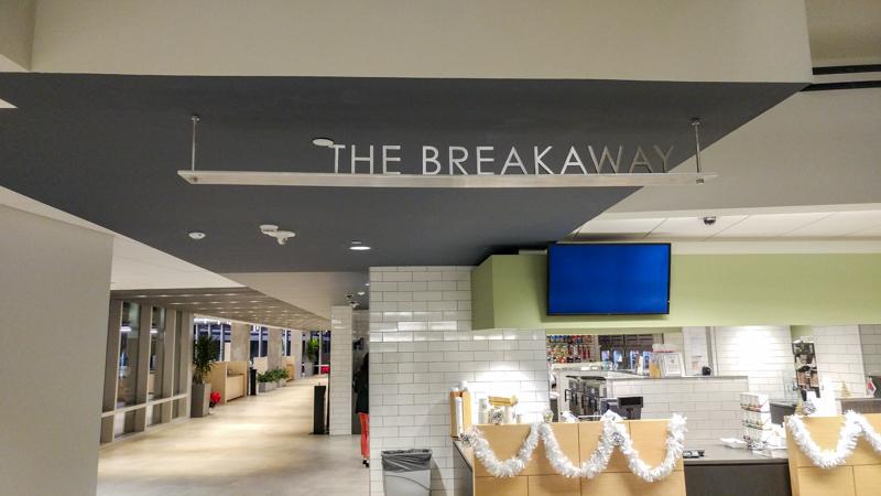 SignGeek Dimensional Letters and Logos - The Breakaway cafe dimensional lettering