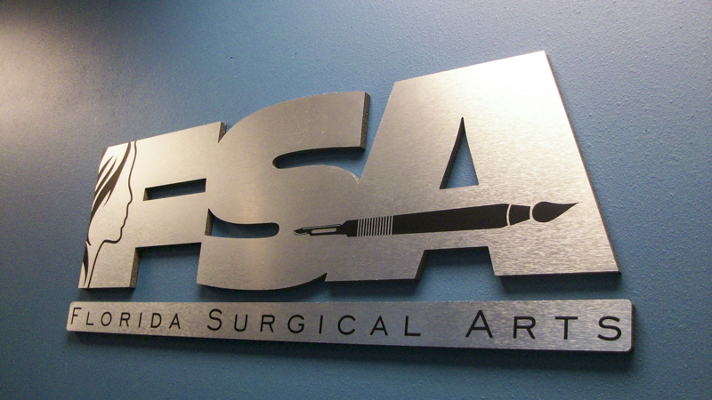 SignGeek Dimensional Letters and Logos - Florida Surgical Arts dimensional wall lettering