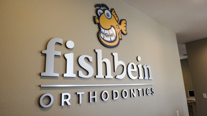 SignGeek Dimensional Letters and Logos - Fishbein Orthodontics dimensional interior lettering