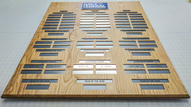SignGeek Corporate and Employee Recognition - Employee Awards Board for Navy Federal FCU