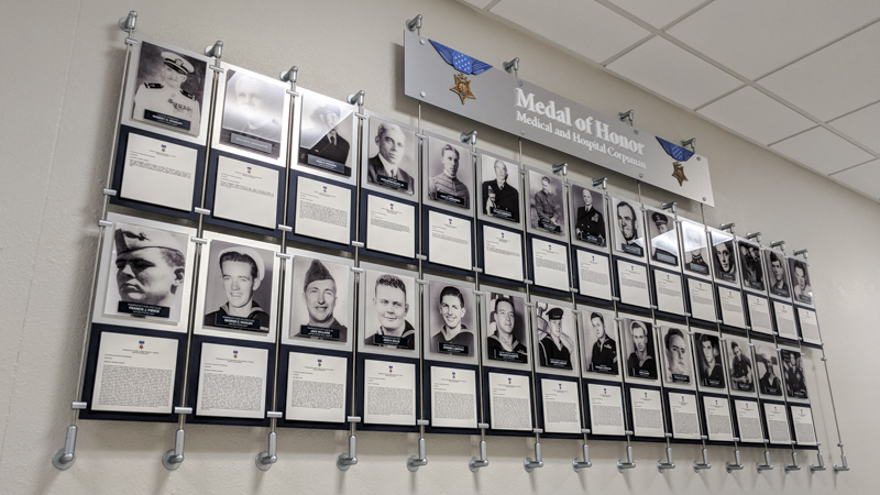 SignGeek Corporate and Employee Recognition - Medal of Honor Display panel for Naval Hospital Pensacola