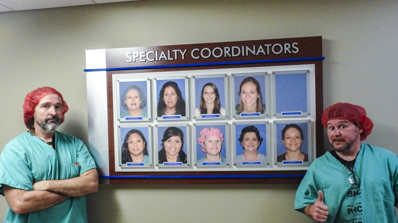 SignGeek Corporate and Employee Recognition -Specialty Coordinators Display Panel for Baptist Hospital
