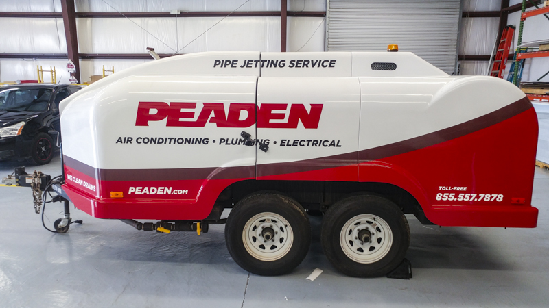 SignGeek Fleet Wraps and Graphics - Peaden Air Conditioning, Plumbing and Electrical trailer wrap
