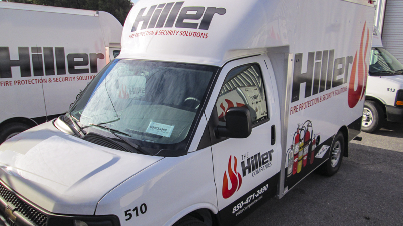 SignGeek Fleet Wraps and Graphics - Hiller Plumbing, HVAC, and Electrical fleet graphics