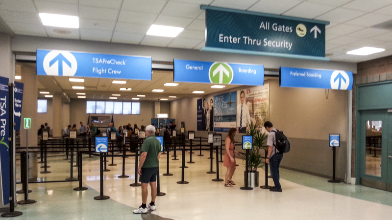 Airport wayfinding signage for Pensacola International. Built and installed by Signgeek.