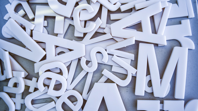 SignGeek Laser Cut Acrylic Letters - Dimensional letterforms for Pen Air