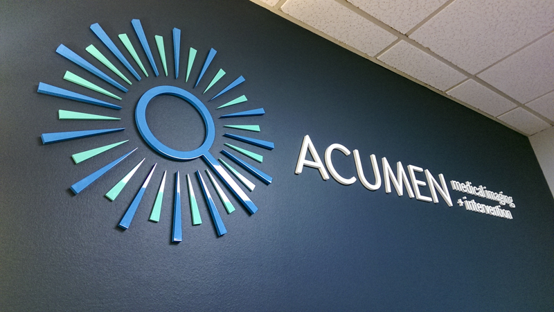 SignGeek Laser Cut Acrylic Letters - Dimensional laser cut architectural signage for Acumen