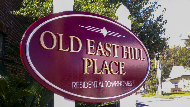 SignGeek Laser Cut Acrylic Letters - Dimensional signage panel for Old East Hill Place