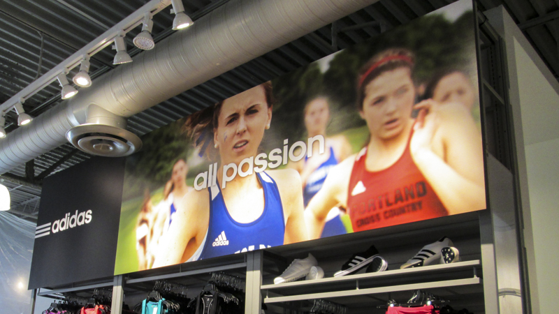 SignGeek Point of Purchase - Adidas store campaign displays