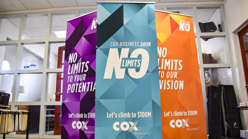 SignGeek Tradeshow and Exhibits - Cox Business Popup Tradeshow Banners