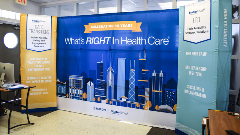 SignGeek Tradeshow and Exhibits - Studer Health Popup Tradeshow Banners